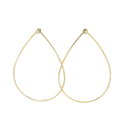 Zoe Chicco, Ladies' Diamond Fashion Earrings 0.10tw  14K Yellow Gold