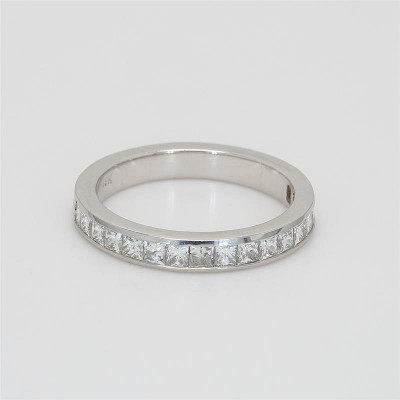 Ladies' Diamond Half-Way Band 0.98tw  18K White Gold