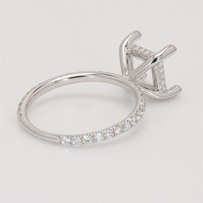 Ladies' Engagement Ring Setting 0.52tw  18K White Gold