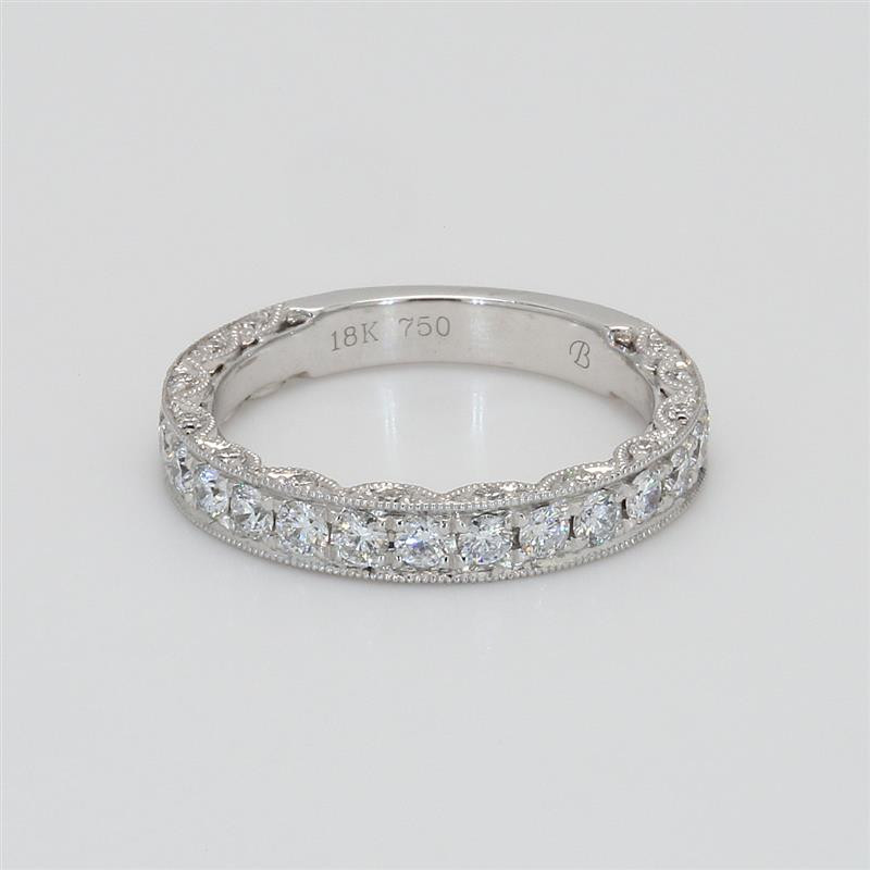 Ladies' Diamond Three-Quarter Way Band 0.79tw  18K White Gold