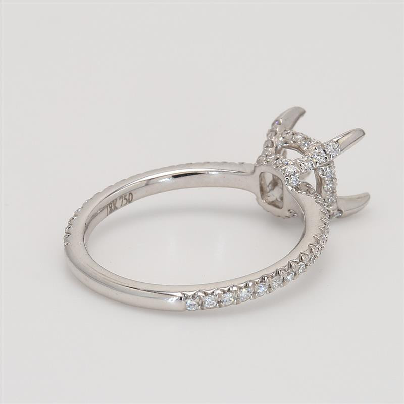Oliva Collection, Ladies' Engagement Ring Setting 0.36tw  18K White Gold