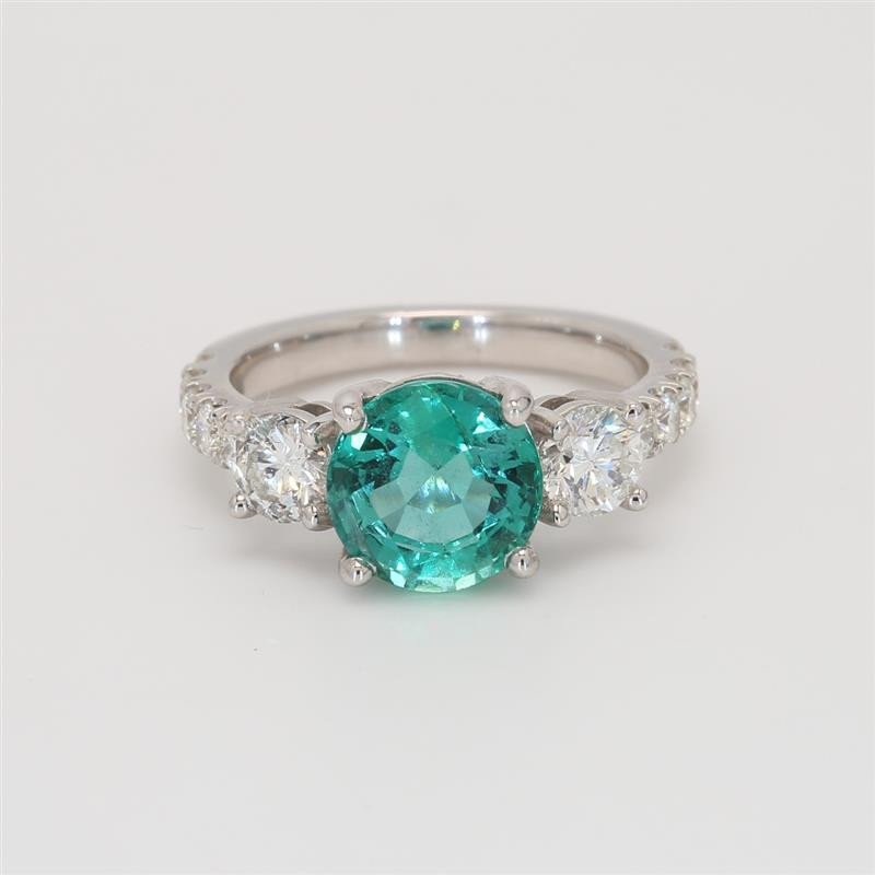 Oliva Collection, Ladies' Gemstone Fashion Ring 3.08tw  18K White Gold
