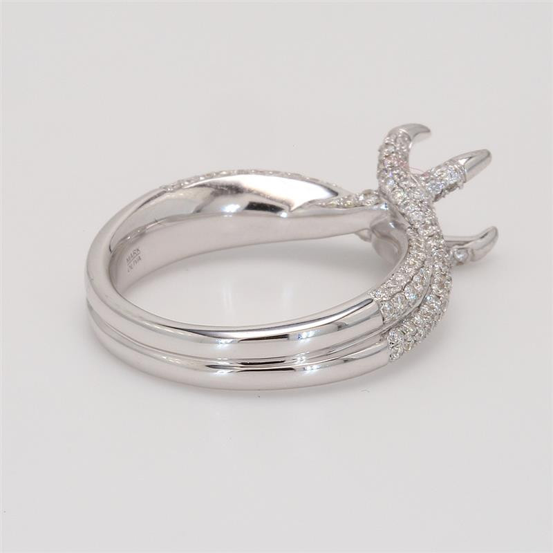 Ladies' Engagement Ring Setting 0.79tw  18K White Gold