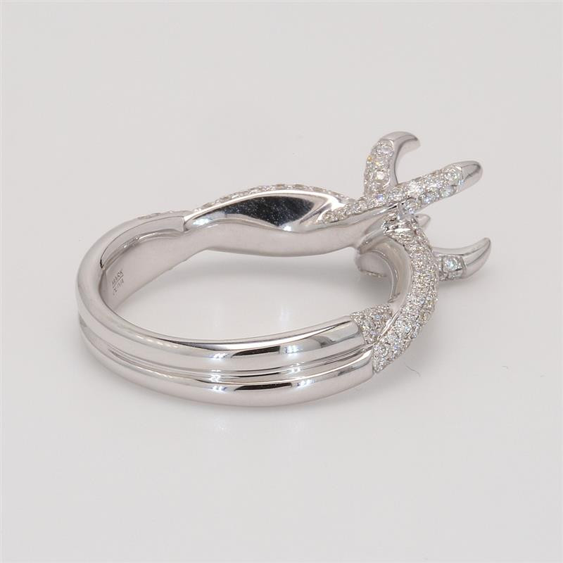Ladies' Engagement Ring Setting 0.82tw  18K White Gold