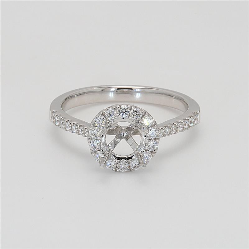 Ladies' Engagement Ring Setting 0.38tw  18K White Gold