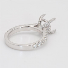 Ladies' Engagement Ring Setting 1.06tw  18K White Gold