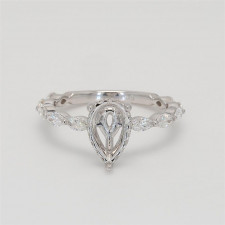 Ladies' Engagement Ring Setting 0.84tw  18K White Gold