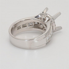 Ladies' Engagement Ring Setting 1.39tw  18K White Gold