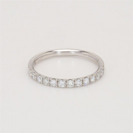 Ladies' Diamond Half-Way Band 0.39tw  Platinum