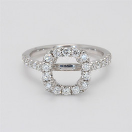 Ladies' Engagement Ring Setting 0.68tw  18K White Gold