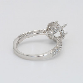 Ladies' Engagement Ring Setting 0.60tw  18K White Gold