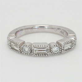 Ladies' Diamond Half-Way Band 0.83tw  14K White Gold