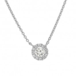 Ladies' Diamond Fashion Necklace 0.24tw  18K White Gold