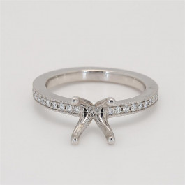 Ladies' Gemstone Fashion Ring 0.24tw  18K White Gold