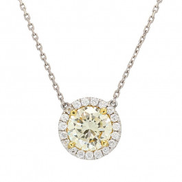 Ladies' Diamond Fashion Necklace 1.75tw  18K White/ Yellow Gold, 14K White Gold
