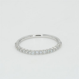 Ladies' Diamond Half-Way Band 0.25tw  18K White Gold