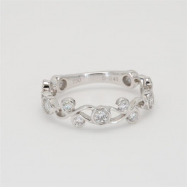 Ladies' Diamond Three-Quarter Way Band 0.40tw  18K White Gold