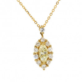 Ladies' Diamond Fashion Pendant 0.60tw  18K Yellow Gold