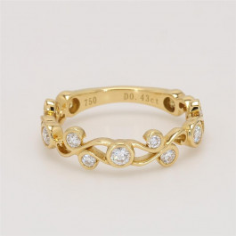 Ladies' Diamond Three-Quarter Way Band 0.43tw  18K Yellow Gold