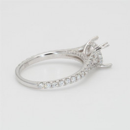 Ladies' Engagement Ring Setting 0.56tw  18K White Gold