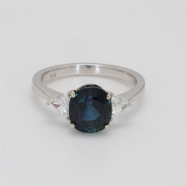 Ladies' Gemstone Fashion Ring 3.74tw  14K White Gold