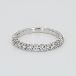 Ladies' Diamond Half-Way Band 0.51tw  18K White Gold