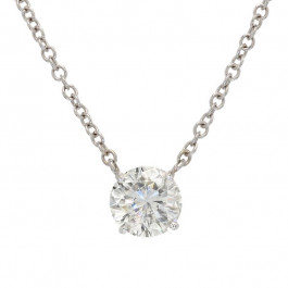 Ladies' Diamond Fashion Necklace 2.15tw  14K White Gold