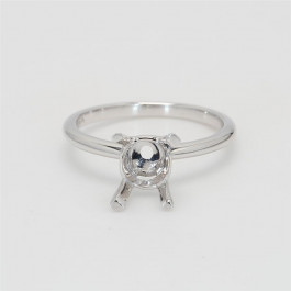 Ladies' Engagement Ring Setting 14K White Gold