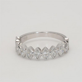 Ladies' Diamond Half-Way Band 0.86tw  18K White Gold
