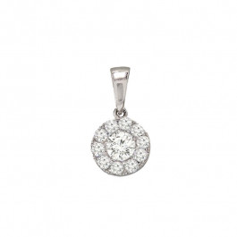 Ladies' Diamond Fashion Pendant 0.46tw  18K White Gold