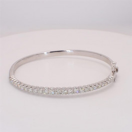 Ladies' Diamond Bangle 1.88tw  14K White Gold