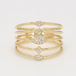 LA Hip, Ladies' Diamond Fashion Ring 14K Yellow Gold