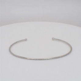 Ladies' Diamond Cuff 0.15tw  14K White Gold