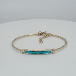 Ladies' Gemstone Bangle 0.83tw  14K Yellow Gold