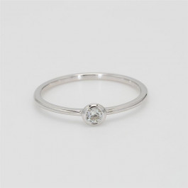 LA Hip, Ladies' Diamond Fashion Ring 0.10tw  18K White Gold