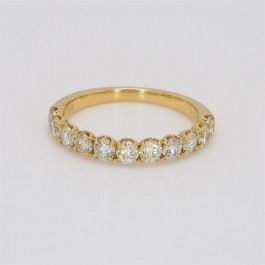 Ladies' Diamond Half-Way Band 1.00tw  18K Yellow Gold