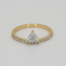 LA Hip, Ladies' Diamond Fashion Ring 0.44tw  18K Yellow Gold