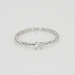 Bead It, Ladies' Diamond Fashion Ring 0.10tw  18K White Gold