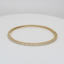 Ladies' Diamond Bangle 1.19tw  18K Yellow Gold