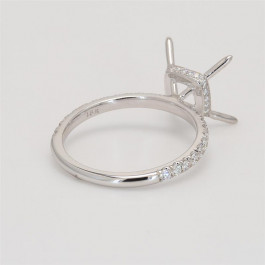 Ladies' Engagement Ring Setting 0.42tw  18K White Gold
