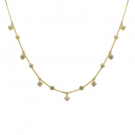 Ladies' Diamond Fashion Necklace 0.96tw  18K Yellow Gold