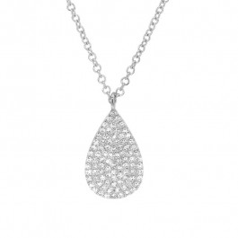 Ladies' Diamond Fashion Pendant 0.19tw  14K White Gold