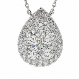 Ladies' Diamond Fashion Necklace 1.24tw  18K White Gold