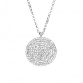 Ladies' Diamond Fashion Necklace 0.57tw  14K White Gold