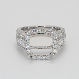 Ladies' Engagement Ring Setting 1.92tw  18K White Gold