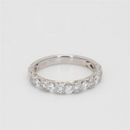 Ladies' Diamond Half-Way Band 0.67tw  18K White Gold