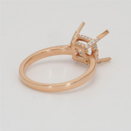 Ladies' Engagement Ring Setting 0.11tw  18K Rose Gold