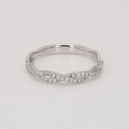 Ladies' Diamond Half-Way Band 0.21tw  18K White Gold