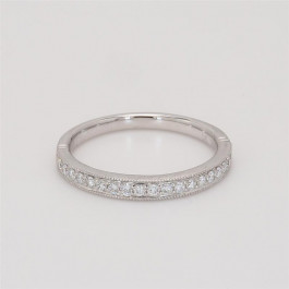 Ladies' Diamond Half-Way Band 0.23tw  18K White Gold