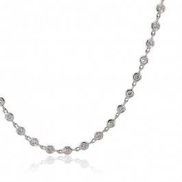 Ladies' Diamond Fashion Necklace 2.03tw  18K White Gold